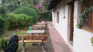 Backpackers hostel, Cafayate, Argentina - time to leave and take buses to Bolivia