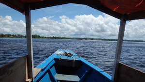 The confluence of the Nanay and Amazon rivers, Iquitos, Peru